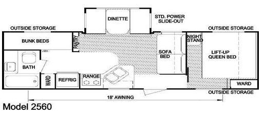 Floorplan - 2009 Skyline Nomad 2560