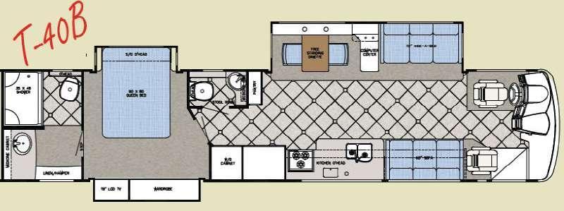 Floorplan - 2008 Gulf Stream RV Tour Master T40B