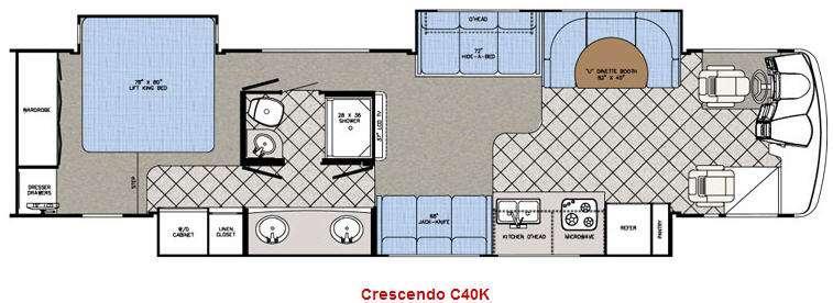 Floorplan - 2009 Gulf Stream RV Crescendo C40K