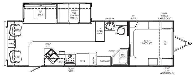 Floorplan - 2009 Holiday Rambler Savoy LX 30 RLS