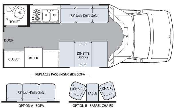 Floorplan - 2009 Holiday Rambler Augusta Sport 210