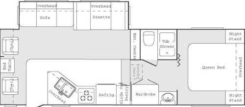 Floorplan - 2005 Keystone RV Cougar 276 EFS