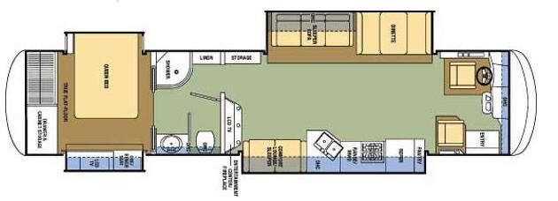 Floorplan - 2008 Coachmen RV Sportscoach Pathfinder 405 QS