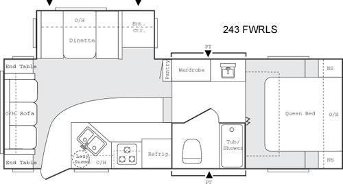 Floorplan - 2005 Keystone RV Sprinter 243 FWRLS