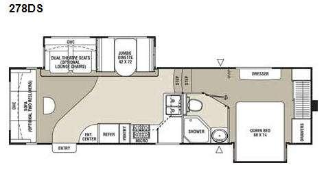 Floorplan - 2009 Coachmen RV Chaparral 278DS