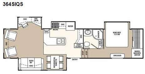 Floorplan - 2009 Coachmen RV Wyoming 364SIQS