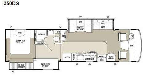 Floorplan - 2009 Coachmen RV Mirada 350DS