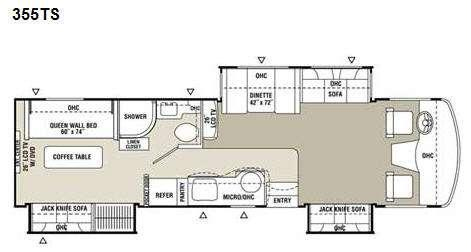 Floorplan - 2009 Coachmen RV Mirada 355TS