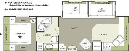 Floorplan - 2005 Forest River RV Rockwood 8315 SS