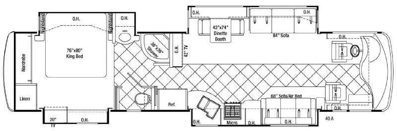 Floorplan - 2008 Damon Essence 40A