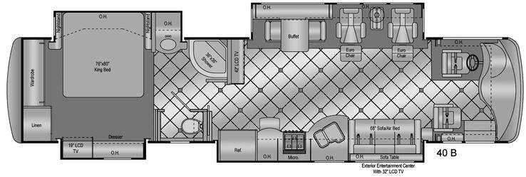 Floorplan - 2009 Damon Essence 40B