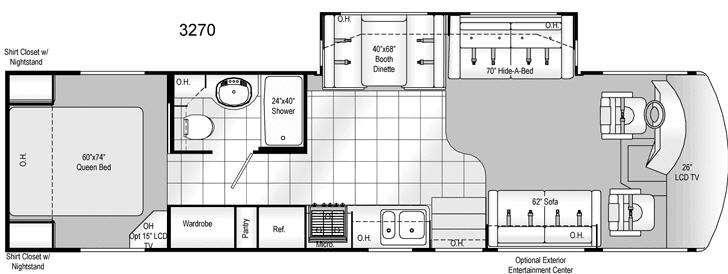 Floorplan - 2009 Damon Daybreak 3270