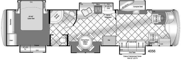 Floorplan - 2009 Damon Tuscany 4056