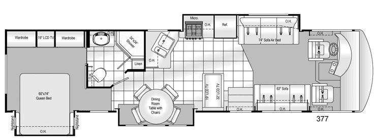 Floorplan - 2009 Damon Challenger 377