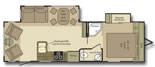 Floorplan - 2009 Open Range RV Journeyer JTT287RLS