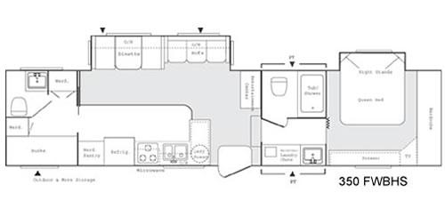 Floorplan - 2004 Keystone RV Sprinter 350FWBHS