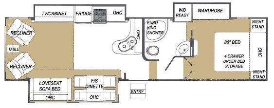 Floorplan - 2009 Glendale Titanium Tour Edition 30E35SA