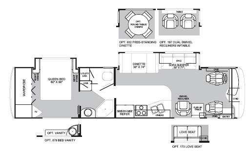 Floorplan - 2003 Fleetwood RV Excursion 38U