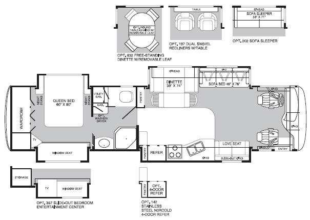 Floorplan - 2005 Fleetwood RV Excursion 39L
