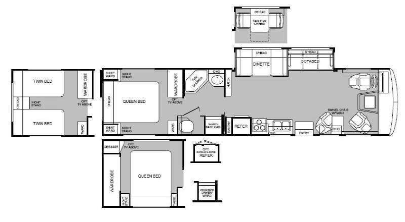 Floorplan - 1999 Fleetwood RV Bounder 36S