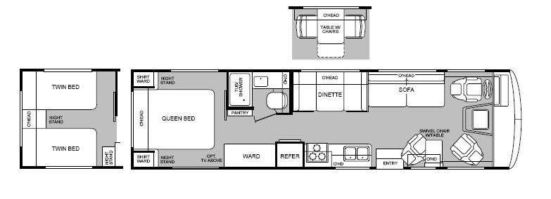 Floorplan - 2000 Fleetwood RV Bounder 32H