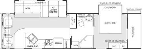 Floorplan - 2004 Keystone RV Mountaineer 335 RLBS