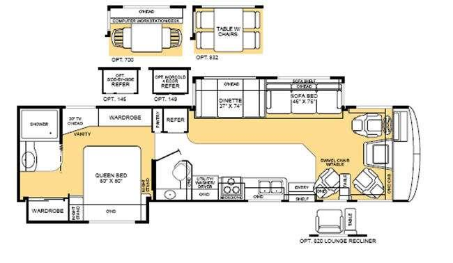 Floorplan - 2003 Fleetwood RV Bounder 35E