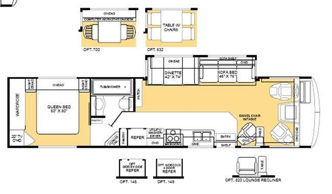 Floorplan - 2003 Fleetwood RV Bounder 36D