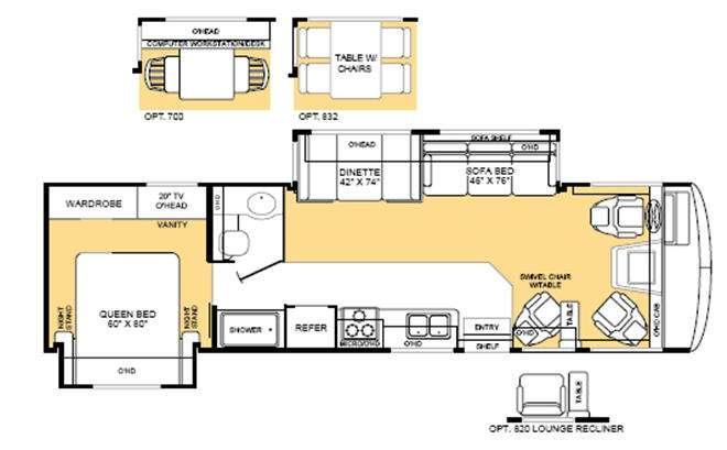 Floorplan - 2004 Fleetwood RV Bounder 32W