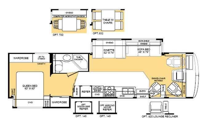 Floorplan - 2004 Fleetwood RV Bounder 35R