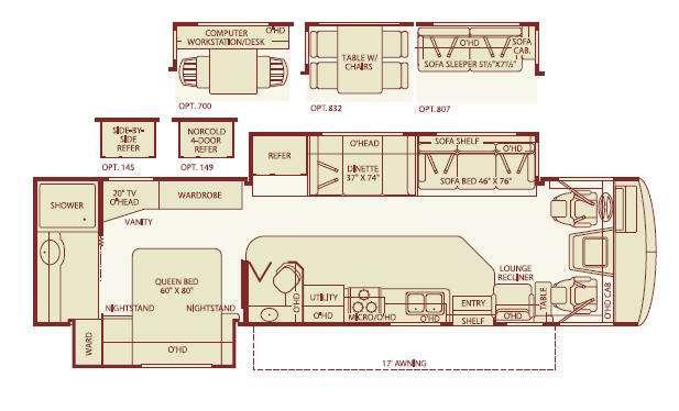 Floorplan - 2006 Fleetwood RV Bounder 35E