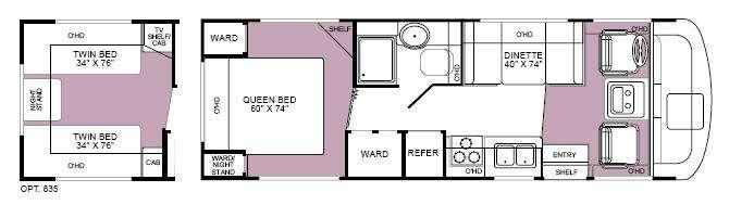 Floorplan - 2003 Fleetwood RV Fiesta 26Y