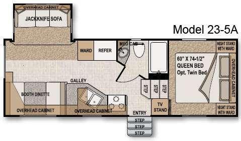 Floorplan - 2009 Northwood Nash 23-5A