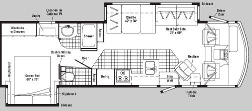 Floorplan - 2005 Winnebago Voyager 33V