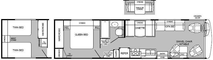 Floorplan - 1999 Fleetwood RV Pace Arrow 35J