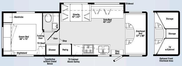 Floorplan - 2008 Winnebago Chalet 31C