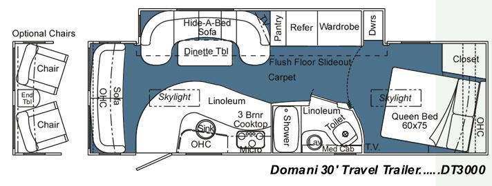 Floorplan - 2009 Carriage Domani DT3000