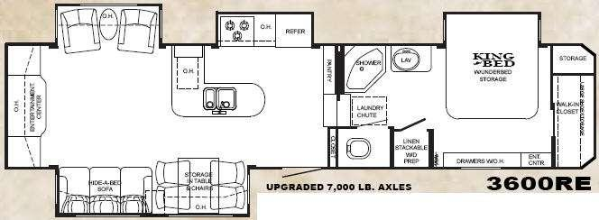 Floorplan - 2010 Heartland Bighorn 3600RE