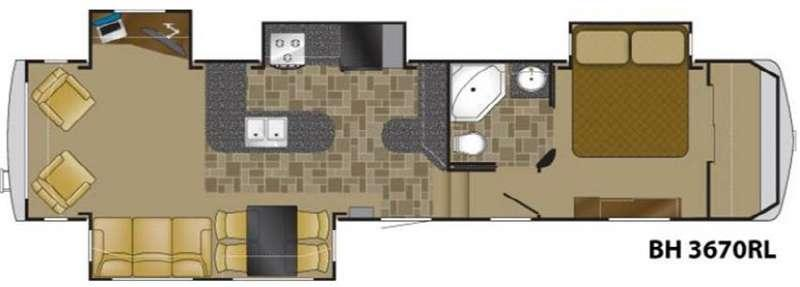 Floorplan - 2010 Heartland Bighorn 3670RL