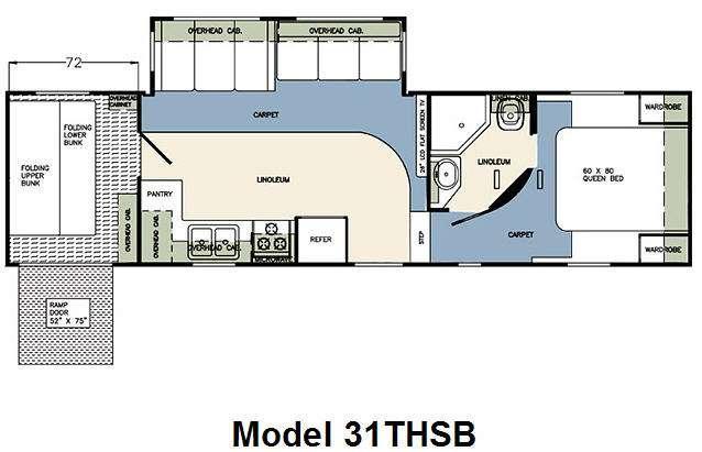 Floorplan - 2009 Forest River RV Wildcat 31THSB