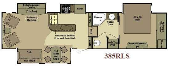 Floorplan - 2010 Open Range RV 385RLS