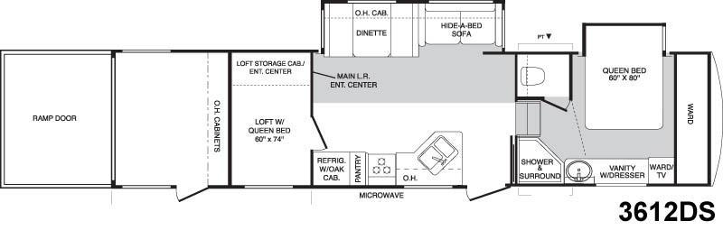 Floorplan - 2005 Keystone RV Raptor 3612DS