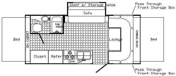 Floorplan - 2005 Palomino Stampede 21 SL