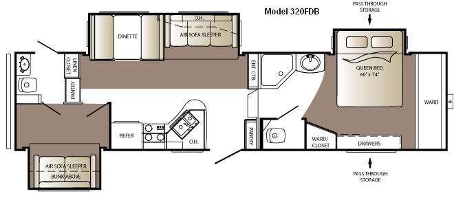 Floorplan - 2010 Keystone RV Outback Sydney Edition 320FDB