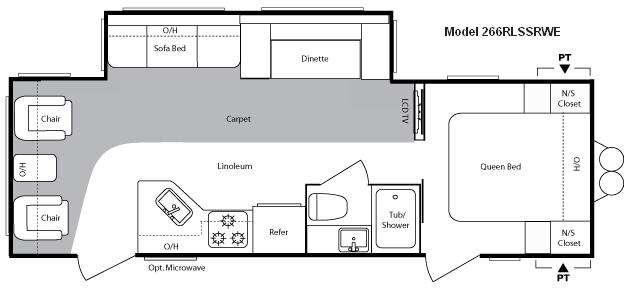 Floorplan - 2010 Keystone RV Springdale 266RLSSR