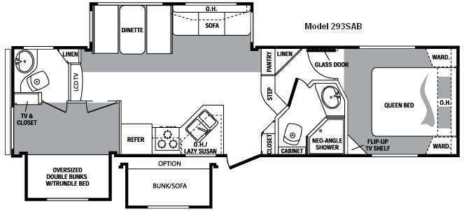 Floorplan - 2010 Keystone RV Cougar 293SAB