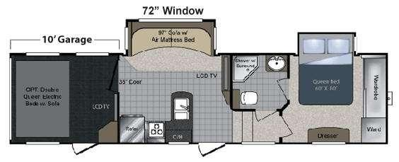 Floorplan - 2010 Keystone RV Raptor 300MP