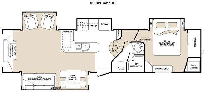 Floorplan - 2010 Keystone RV Montana 3665 RE