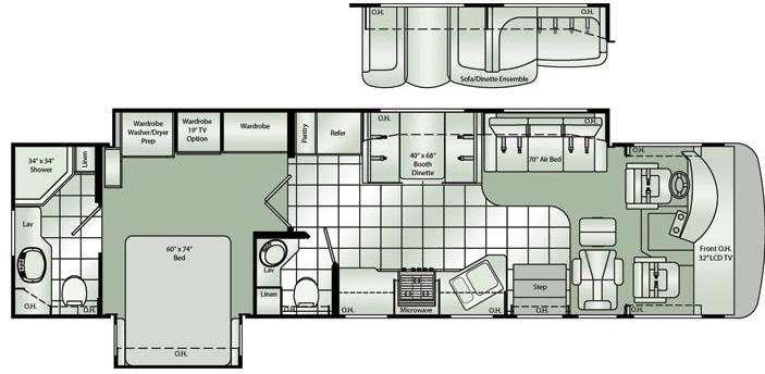 Floorplan - 2010 Damon Challenger 368