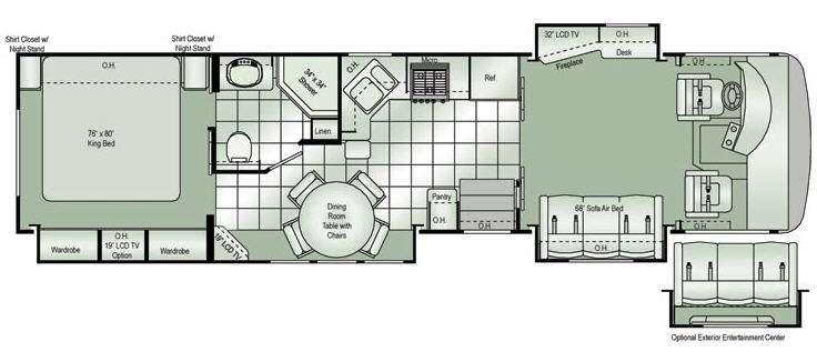 Floorplan - 2010 Damon Challenger 371